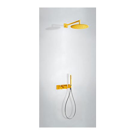 Tres Study-Colors Zestaw prysznicowy podtynkowy z baterią termostatyczną i z pokrętłem, żółty/bursztynowy 207.352.01.TAM