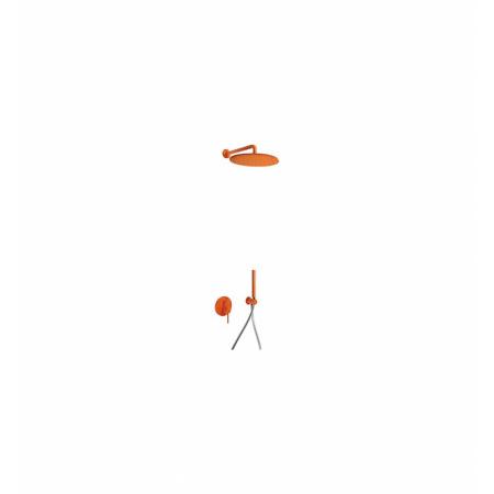 Tres Study-Colors Zestaw prysznicowy z baterią podtynkową i deszczownicą, pomarańczowy 262.980.91.TN.A