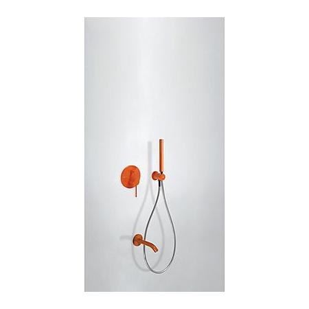Tres Study-Colors Zestaw prysznicowy z baterią podtynkową, pomarańczowy 262.180.03.TN.A