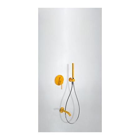 Tres Study-Colors Zestaw prysznicowy z baterią podtynkową, żółty bursztynowy 262.180.03.TA.M