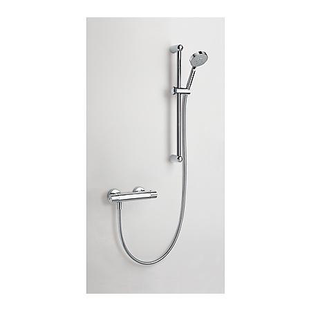 Tres Tresmostatic Zestaw prysznicowy natynkowy z baterią termostatyczną, chrom 090.186.02