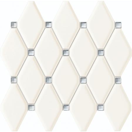 Tubądzin Abisso White Mozaika ścienna 29,8x27 cm, biała TUBABIWMS298270