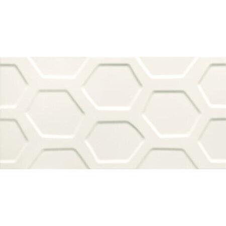 Tubądzin All In White 1 STR Płytka ścienna 59,8x29,8x1 cm, biała mat TUBPSALLINWHI1STR5982981
