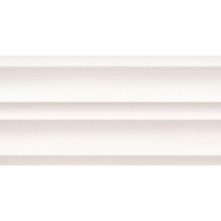 Tubądzin All In White 5 STR Płytka ścienna 59,8x29,8x1 cm, biała mat TUBPSALLINWHI5STR5982981