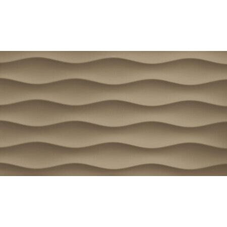 Tubądzin Colour Brown Mocca R.3 Płytka ścienna 59,3x32,7x1 cm, kawowa połysk TUBPSCOLBROMOCR35933271