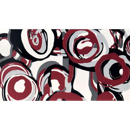 Tubądzin Colour Carmine Hoop Dekor ścienny 59,3x32,7x0,8 cm, szary, bordowy, połysk TUBDSCOLCARHOOCAR59332708