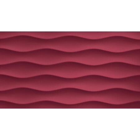 Tubądzin Colour Carmine R.3 Płytka ścienna 59,3x32,7x1 cm, bordowa, połysk TUBPSCOLCARR35933271