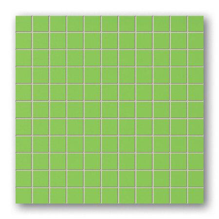 Tubądzin Colour Green Mozaika ścienna kwadratowa 30x30x0,8 cm, jasnozielona, połysk TUBMSCOLGRE303008
