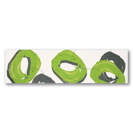 Tubądzin Colour Pop Green Listwa ścienna 59,3x16,2x1 cm, zielona, beżowa, połysk TUBLSCOLPOPGRE5931621