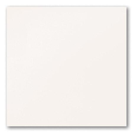 Tubądzin Colour White&Black White R.1 Płytka podłogowa gresowa 44,8x44,8x0,85 cm, biała lappato TUBPPCOLWHIBLAWHIR1448448085