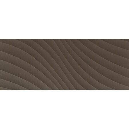 Tubądzin Elementary brown wave STR Płytka ścienna 74,8x29,8x1 cm, brązowa półmat TUBPSELEBROWAVSTR7482981