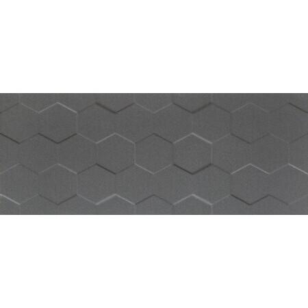 Tubądzin Elementary graphite hex STR Płytka ścienna 74,8x29,8x1 cm, grafitowa półmat TUBPSELEGRAHEXSTR7482981