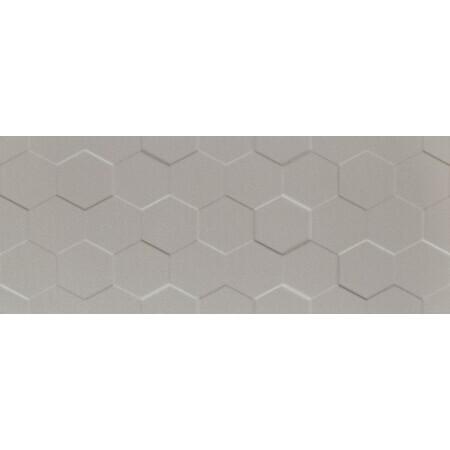 Tubądzin Elementary grey hex STR Płytka ścienna 74,8x29,8x1 cm, szara półmat TUBPSELEGREHEXSTR7482981