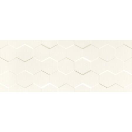 Tubądzin Elementary white hex STR Płytka ścienna 74,8x29,8x1 cm, biała półmat TUBPSELEWHIHEXSTR7482981
