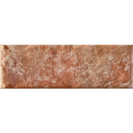 Tubądzin Elements Bricktile red Płytka ścienna 23,7x7,8x0,96 cm, czerwona mat TUBPSELEBRIRED23778096