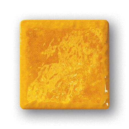 Tubądzin Majolika Haga 2 Płytka ścienna 11,5x11,5x0,8 cm, żółta, połysk TUBPSMAJHAG211511508