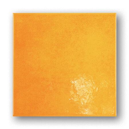 Tubądzin Majolika Nimfea 12 Płytka ścienna 20x20x0,65 cm, żółta, połysk TUBPSMAJNIM122020065