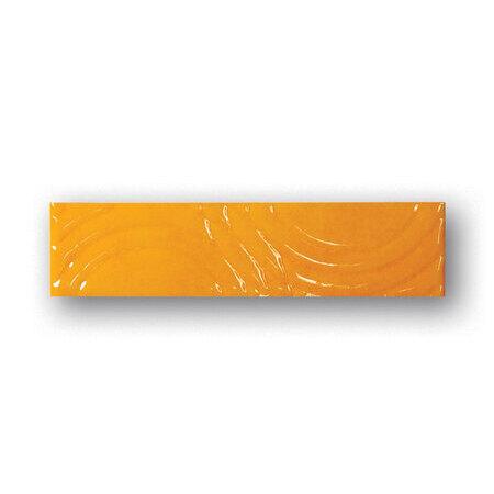 Tubądzin Majolika Punto 12 Listwa ścienna 20x4,8x0,7 cm, żółta, połysk TUBLSMAJPUN12204807