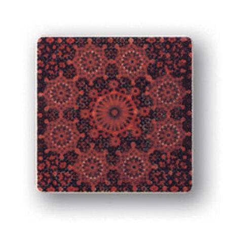 Tubądzin Majolika Rotundo 2 Dekor ścienny 11,5x11,5x0,8 cm, bordowy, czerwony, połysk TUBDSMAJROT211511508