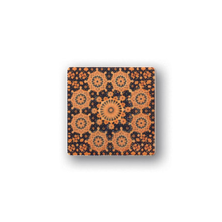 Tubądzin Majolika Rotundo 5 Dekor ścienny 11,5x11,5x0,8 cm, pomarańczowy, granatowy, połysk TUBDSMAJROT511511508