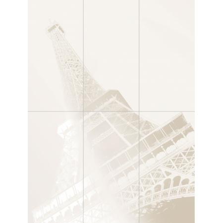 Tubądzin Paris Obrazy Tour Eiffel Dekor ścienny 6-elementowy 89,8x119,8 cm, TUBPAROBRTEIFDS68981198