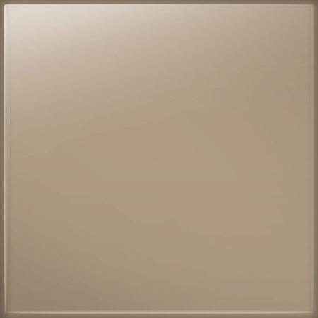 Tubądzin Pastel cappuccino Płytka ścienna 20x20x0,65 cm, kawowa połysk RAL K7/1019 TUBPSPASPASCAPRALK710192020065