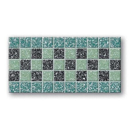 Tubądzin Tartany Tartan 2 Listwa podłogowa mozaikowa 33,3x16,6x0,8 cm, zielona mat TUBLPMTAR233316608