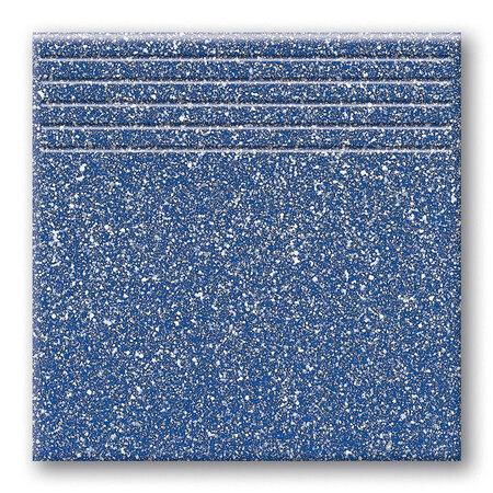 Tubądzin Tartany Tartan 4 Stopnica podłogowa 33,3x33,3x0,8 cm, niebieska mat TUBSPTAR433333308