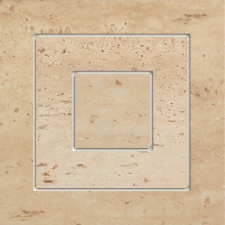 Tubądzin Travertine 11P Narożnik gresowy 14,8x14,8x0,9 cm, brązowy mat, połysk TUBNTRA11P14814809