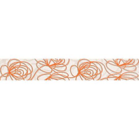 Tubądzin Wave Modern orange Listwa ścienna 44,8x7,1x0,8 cm, pomarańczowa połysk TUBLSWAVMODORA4487108