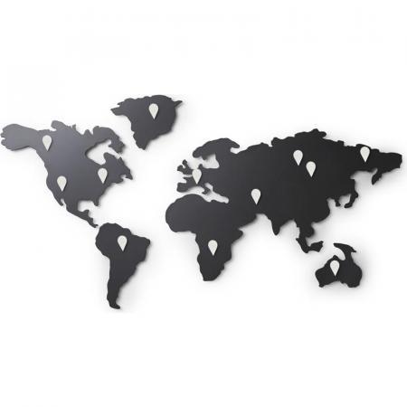 Umbra Mappit Dekoracja ścienna, czarna 1008050-624