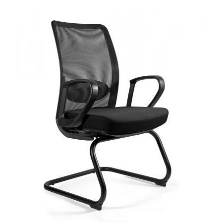 Unique Anggun Skid Fotel biurowy czarny 1191-B-SM01-BL418