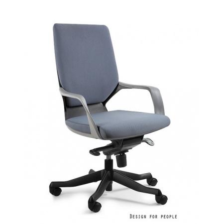 Unique Apollo M Fotel biurowy, czarny/szary W-908B-BL417