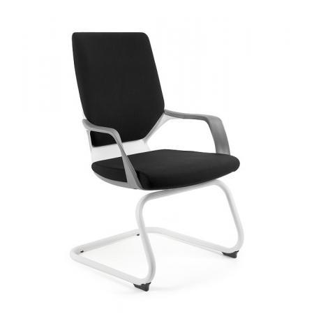 Unique Apollo Skid Fotel biurowy biały/czarny W-901-W-BL418