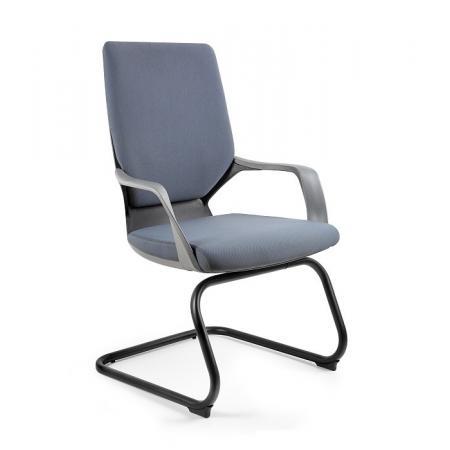 Unique Apollo Skid Fotel biurowy czarny/szary W-901-B-BL417