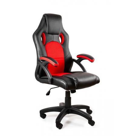 Unique Dynamiq V7 Fotel gamingowy, czarny/czerwony Y-2706-4-2