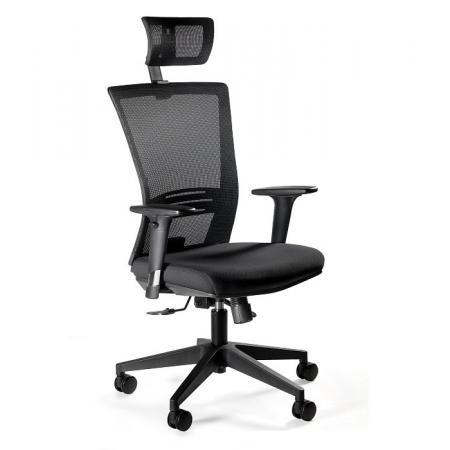 Unique Ergonic Fotel biurowy czarny 1506H