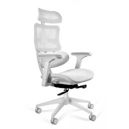 Unique Ergotech Fotel biurowy, biały CM-B137AW-4