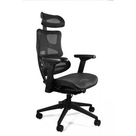 Unique Ergotech Fotel biurowy, czarny CM-B137A-4