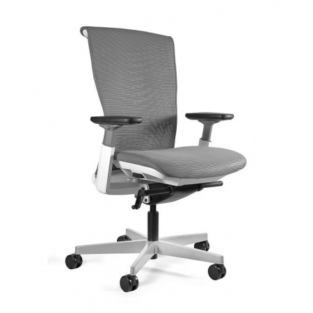 Unique Reya Fotel biurowy biały/szary 1228PNG-W-RS02