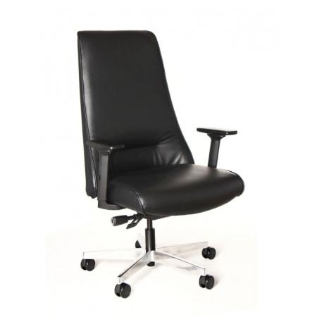 Unique Sail Fotel biurowy czarny S-499-PU-4