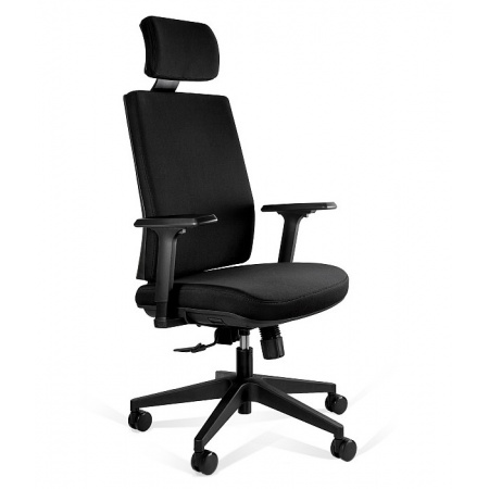 Unique Shell Fotel biurowy czarny KB02-1H