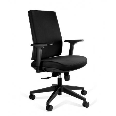 Unique Shell Low Fotel biurowy czarny KB02-1M