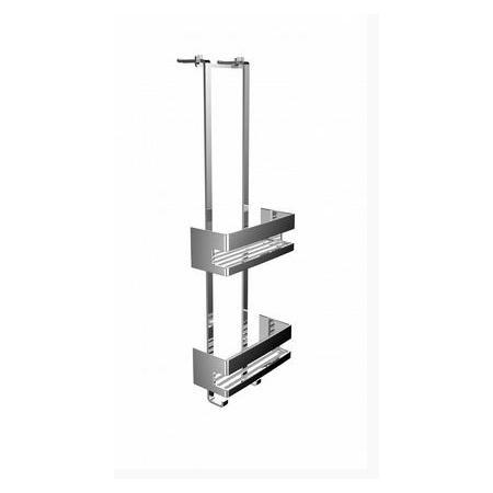 Emco System 2 Pułka prysznicowa z dwoma koszykami 22,5x9,7x70,3 cm, chrom 354500125