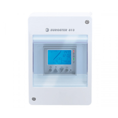 Euroster 813 Solarne Sterownik systemu solarnego 14,5x5,9x8,4 cm, biały 813