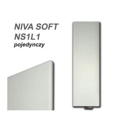 Vasco Niva Soft NS1L1 Grzejnik pojedynczy pionowy 222x64 cm biały S600 111970640222011880600-0000