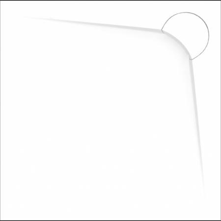 Vayer Boomerang Brodzik kwadratowy 90x90x3 cm, biały 090.090.002.2-6.0.0.0
