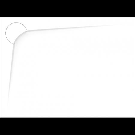 Vayer Boomerang Brodzik prostokątny 120x90x3 cm lewy, biały 120.090.002.2-1.1.0.0