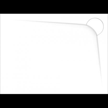 Vayer Boomerang Brodzik prostokątny 110x80x3 cm prawy, biały 110.080.002.2-1.2.0.0