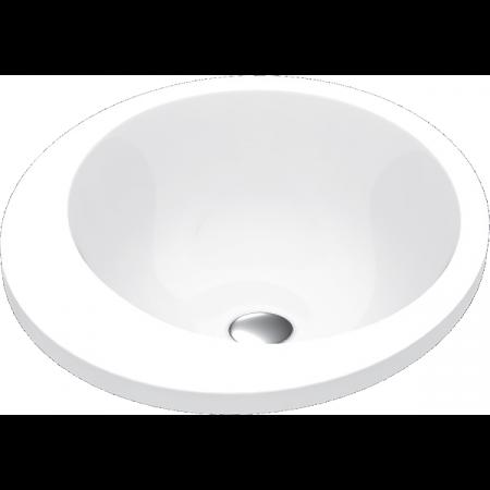 Vayer Boomerang Umywalka wpuszczana w blat 60x43 cm niska, biała 060.043.012.3-4.0.1.0